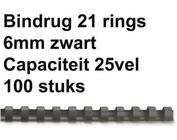 Reliures plastique - 6mm - 25 feuilles