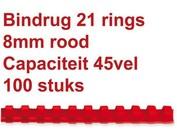 Reliures plastique - 8mm - 45 feuilles