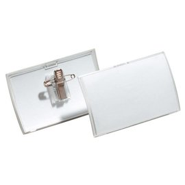 Durable SET 25 x Badge Durable 8211 Click Fold avec pince combi 40x75mm