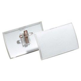 Durable SET 25 x Badge Durable 8211 click fold met combiklem 40x75mm
