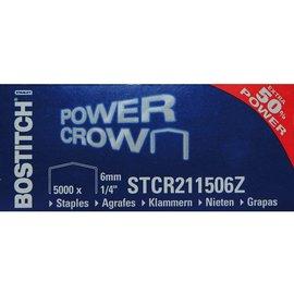 Bostitch Agrafes Bostitch B8 acier STRC2115 6mm dos courbé 5000 pcs