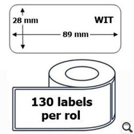Budget Office Étiquette Dymo 99010 label 28 x 89 mm compatible 130 pièces