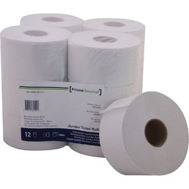 Primesource Papier toilette PrimeSource Midi 2 ép 180m blanc 12 rlx
