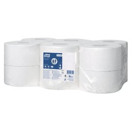 Tork Toiletpapier Tork T2 110163 Advanced 1laags 240m 1200vel 12rollen