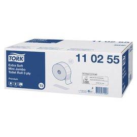 Tork Papier toilette Tork T2 110255 3 ép 120m 600fls 12 rouleaux