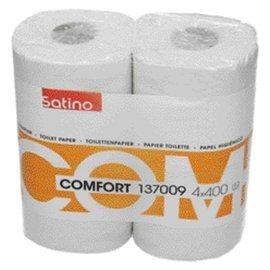 Satino Papier toilette Satino Comfort 2 ép 400 feuilles blanc 4 rlx