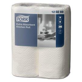 Tork Rouleau essuis-tout 120269 Extra 2 épaisseurs 23cm 2 rouleaux