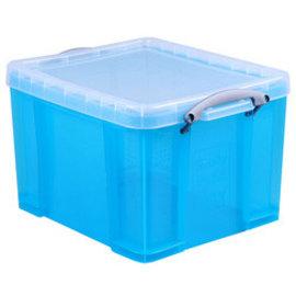 Really Useful Box Boîte de rangement 35 L  bleu transparent