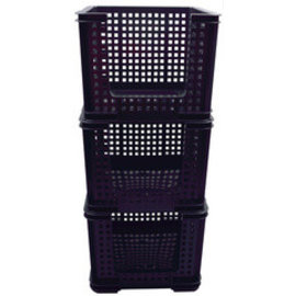Really Useful Box SET 3 Really Useful Box Bac de rangement, 35 litres, 710x440x310mm noir