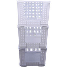 Really Useful Box 3 x Really Useful Box Bac de rangement, 35 litres, 710x440x310mm blanc