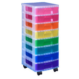 Really Useful Box Really Useful Box Tour de rangement, 8 tiroirs x 9,5  L multicolores