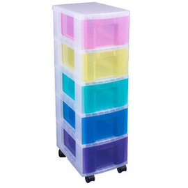 Really Useful Box Really Useful Box Tour de rangement 5 tiroirs multicolores de 12 Litres