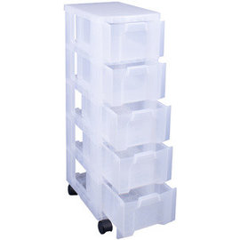 Really Useful Box Really Useful Box Opbergtoren 5 laden x 12 L transparante laden