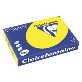 Clairefontaine Papier copieur Trophée A4 80g jaune soleil 500 feuilles