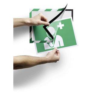 Durable 10 x Pochette magnetique cadre d'affichage Duraframe Durable 4946-131 Security A4 Big pack vert/blanc
