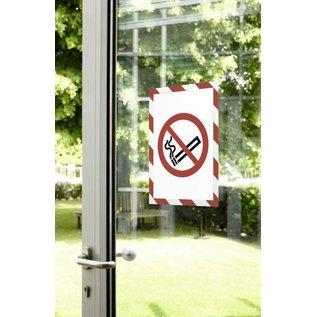 Durable 10 x Pochette magnetique cadre d'affichage Duraframe Durable 4946-132 Security A4 Big pack rouge/blanc
