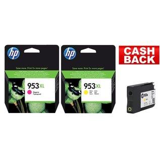 HP HP 953XL rood & HP 953XL geel
