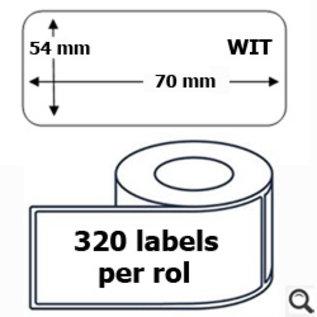 Budget Office Étiquette Dymo 99015 label 54 x 70 mm compatible blanche 320 pièces