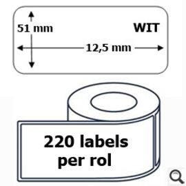 Budget Office Étiquette Dymo 99017 label 51 x 12.5 mm compatible blanche 220 pièces