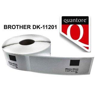 Quantore Etiquette Brother DK-11201 29x90 mm compatible