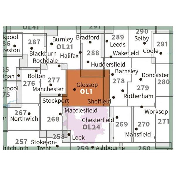 OL1 Map (Laminated)