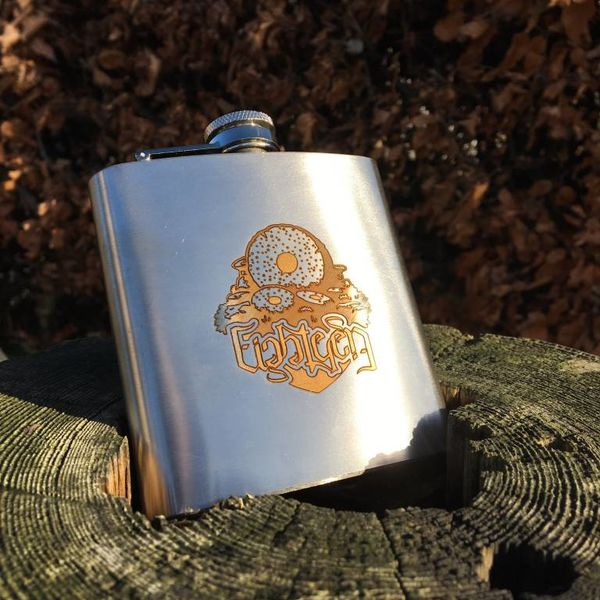 18 Bikes 18 Bikes Headbadge Stainless Steel 6oz Hip Flask (gift boxed with funnel)