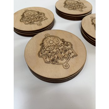 18 Bikes 18 Bikes Headbadge Coaster
