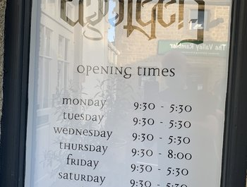 New shop opening hours