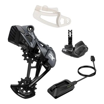 SRAM GX EAGLE AXS UPGRADE KIT (REAR DER W/BATTERY, CONTROLLER W/CLAMP, CHARGER/CORD, CHAIN GAP TOOL): BLACK