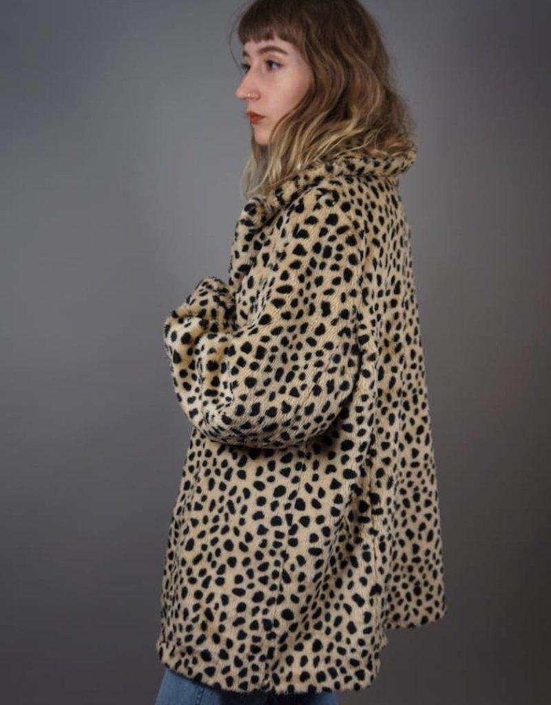 Fake Fur Panter Coat