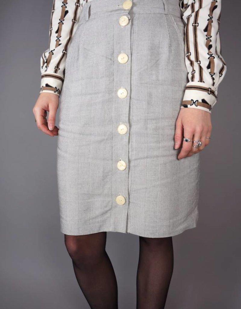 90s Button-Up Pencil Skirt Cindy