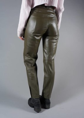 80's Leather Olive Pants