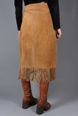 70s Suede Midi CowGirl Skirt