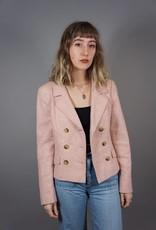 MaxMara Double-Breasted Pied de Poule Jacket