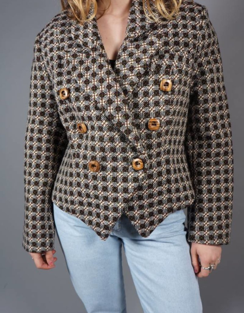 80s Double-Breasted Tweed Jacket Tammy