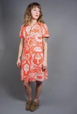 70s Lace-Up Penny Dress