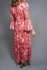 70s Flower Power Maxi Dress