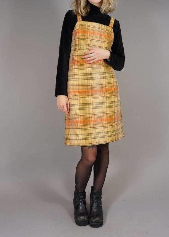 70s Pinafore Dress Monica