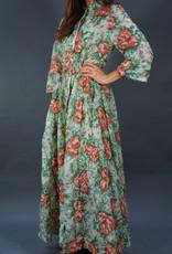 50s Flower Maxi Dress