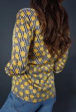 Escada Sunflower Silk Blouse