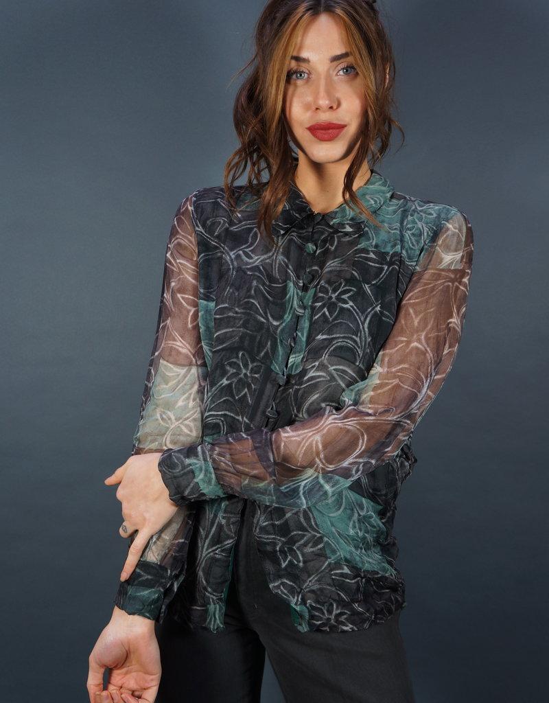 Hanae Mori Paris Silk Blouse