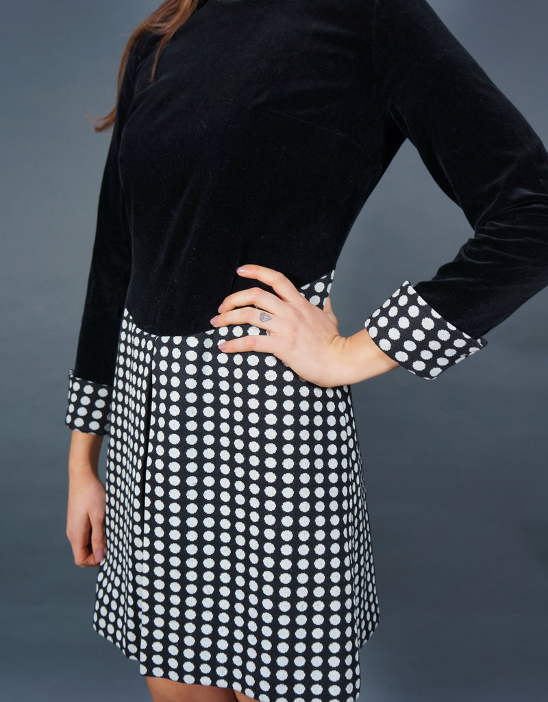70s Patricia Polka Dress