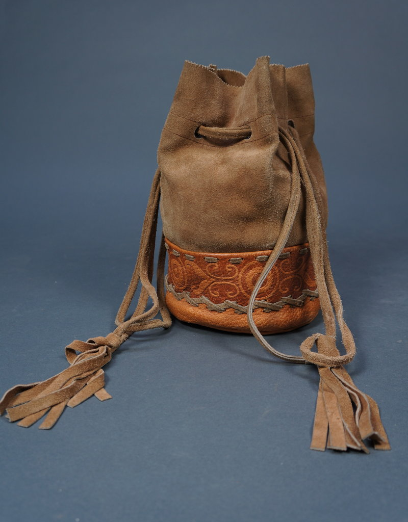 70s Suede Pouch Bag