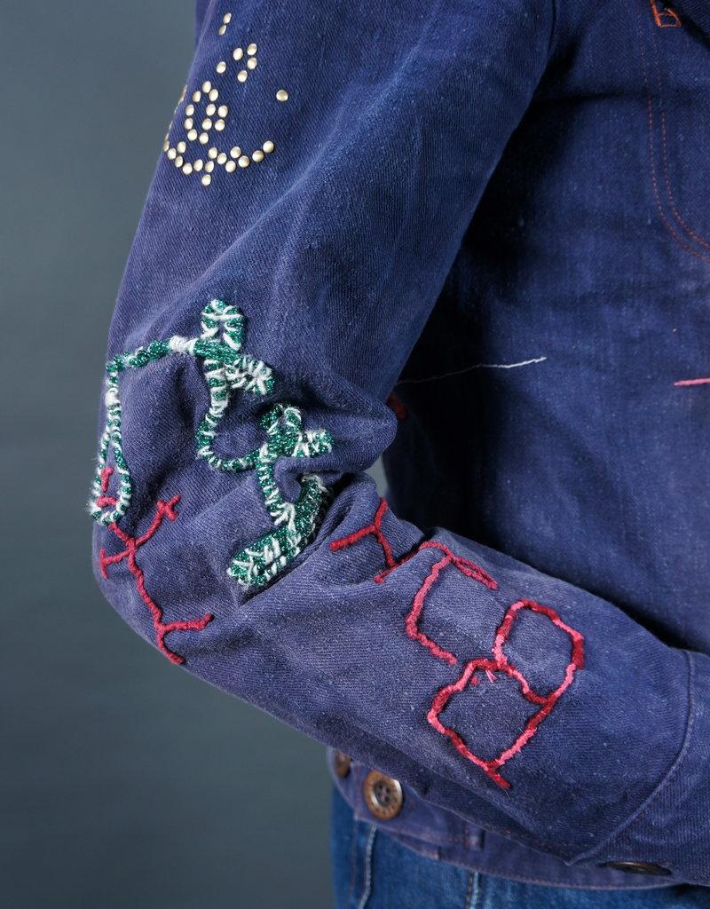 Kraftwerk Spider Beaded Jeans Jacket