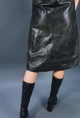 70s Leather Lara Dress