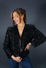 Silk Flower Sequin Jacket