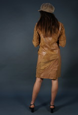 70s Leather Werner Dress