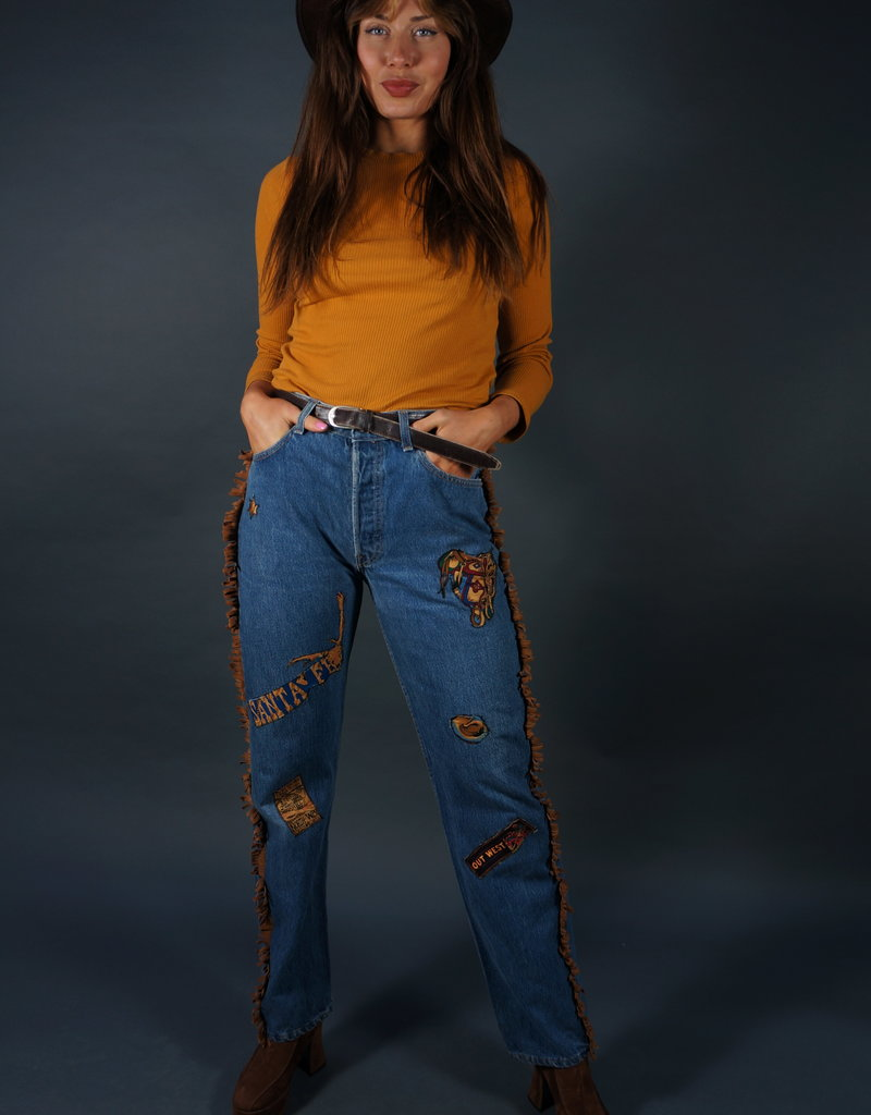 Levi's Customized Rodeo Jeans