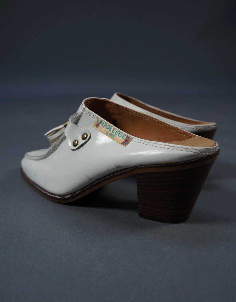 70s College Line Heeled Loafers