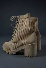 Perforated Lace Up Boots